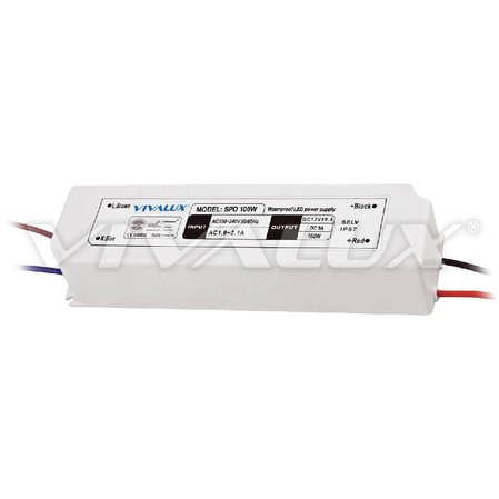LED захранване Vivalux SPD 100W LED SPD SLIM LED DRIVER IP67