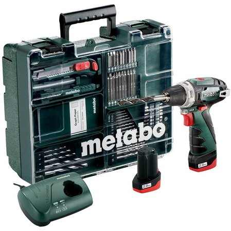 Винтоверт 10.8V 34Nm METABO POWERMAXX BS BASIC SET 2x2Ah мобилнна работилница
